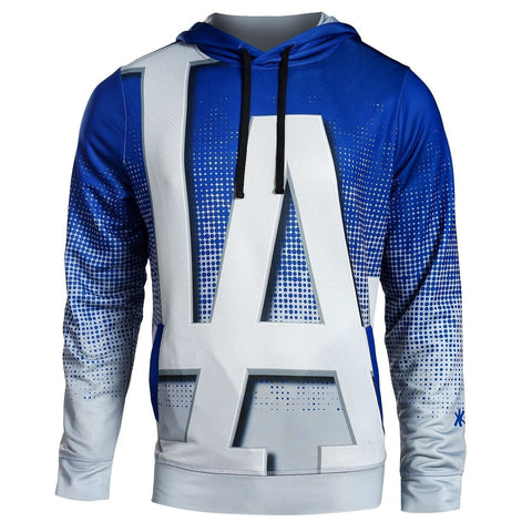 Los Angeles Dodgers MLB Big Logo PolyFleece Hoodie