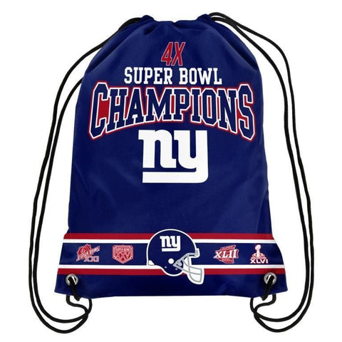 New York Giants NFL Super Bowl Commemorative Drawstring Backpack