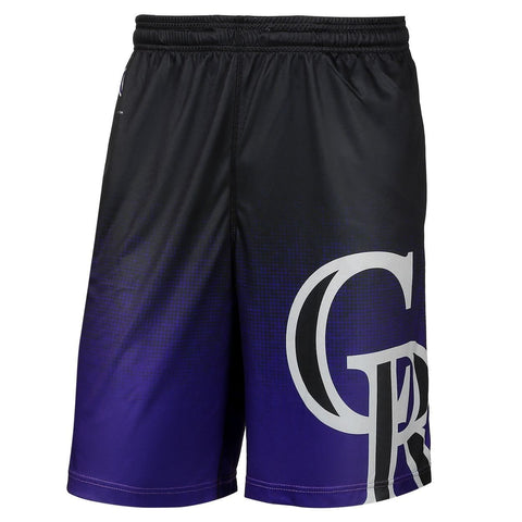 Colorado Rockies Official MLB Gradient Polyester Drawstring Shorts
