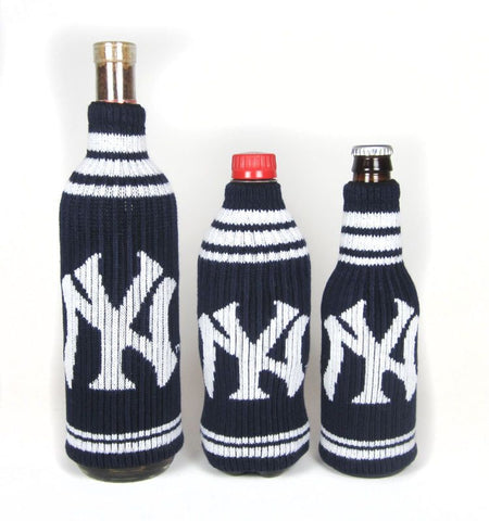 New York Yankees Official MLB Krazy Kovers Stretchy Woolie Bottle Cooler