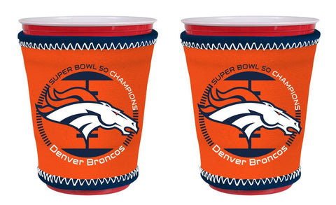 Denver Broncos NFL Super Bowl 50 Champions Cup Insulators - 2Pack