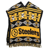 Pittsburgh Steelers Official NFL Football Team Logo Unisex Poncho