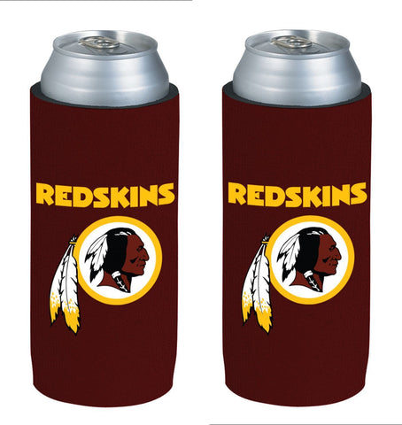 Washington Redskins NFL  Ultra Slim Can Drink Beer Holder 2-Pack