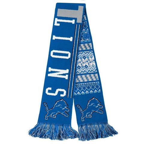 Detroit Lions Official NFL Warm Winter Reversible Ugly Scarf