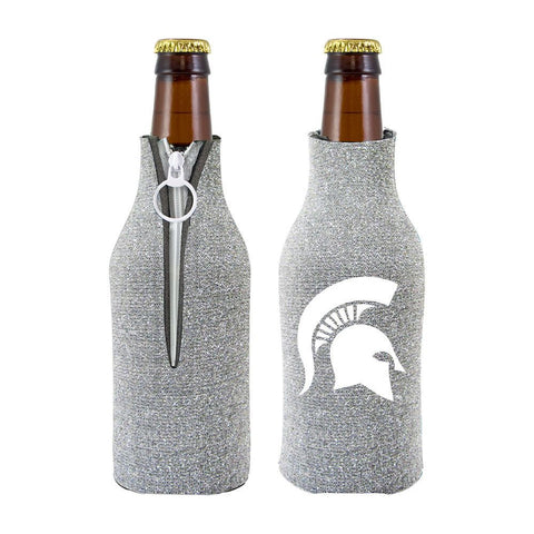 Michigan State Spartans NCAA Insulated Neoprene Ladies Glitter Bottle Cooler