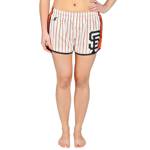 San Francisco Giants Official MLB Womens Comfy Pin Stripe Shorts