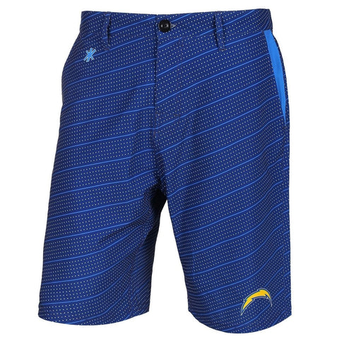 San Diego Chargers Official NFL Dots Walking Shorts with Pockets Button and Zipper