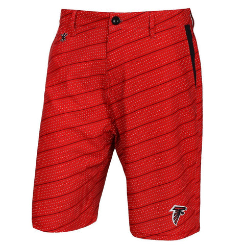 Atlanta Falcons Official NFL Dots Walking Shorts with Pockets Button and Zipper