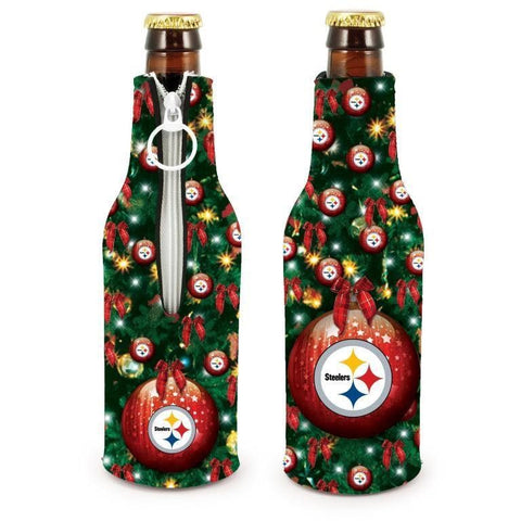 Pittsburgh Steelers NFL Christmas Holiday Bottle Suit Coolers - 2Pack