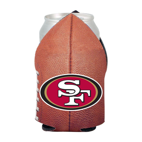 San Francisco 49ers NFL Beer Can Pigskin Holder Neoprene Cooler