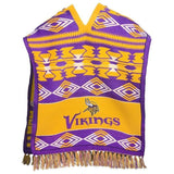 Minnesota Vikings Official NFL Football Team Logo Unisex Poncho