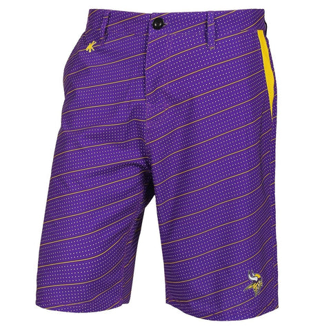 Minnesota Vikings Official NFL Dots Walking Shorts with Pockets Button and Zipper