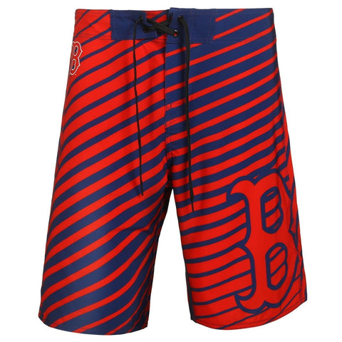 Boston Red Sox Official MLB Poly Stripes Swimsuit Boardshorts
