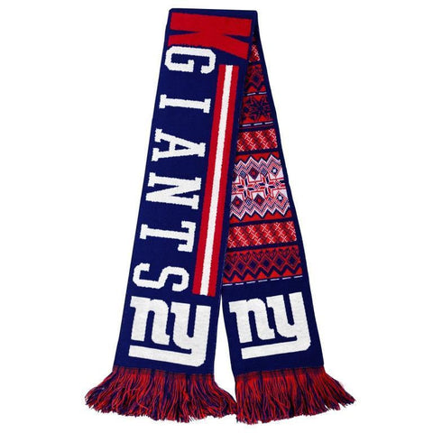 New York Giants Official NFL Warm Winter Reversible Ugly Scarf
