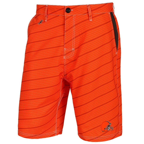 Cleveland Browns Official NFL Dots Walking Shorts with Pockets Button and Zipper