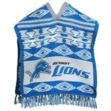 Detroit Lions Official NFL Football Team Logo Unisex Poncho