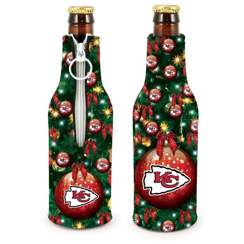 Kansas City Chiefs NFL Christmas Holiday Bottle Suit Coolers - 2Pack