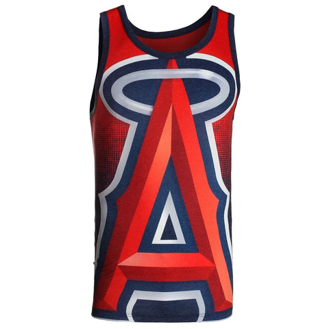 Los Angeles Angels Official MLB Big Logo Mens Tank Top
