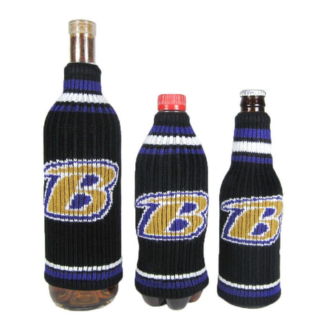 Baltimore Ravens NFL Krazy Kovers Stretchy Woolie Bottle Cooler