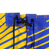 Golden State Warriors Official NBA Poly Stripes Swimsuit Boardshorts