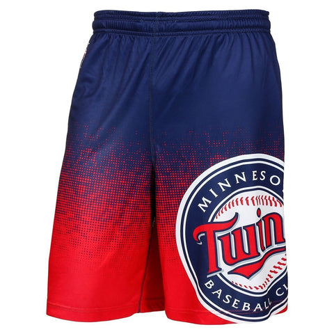 Minnesota Twins Official MLB Gradient Polyester Drawstring Shorts
