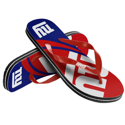 New York Giants Official NFL Unisex Thong Flip Flops
