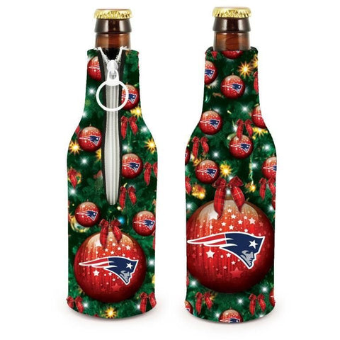 New England Patriots NFL Christmas Holiday Bottle Suit Coolers - 2Pack