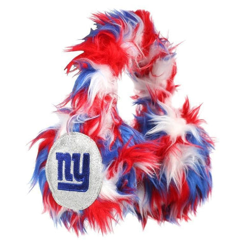 New York Giants NFL Oversized Plush Warm Winter Earmuffs