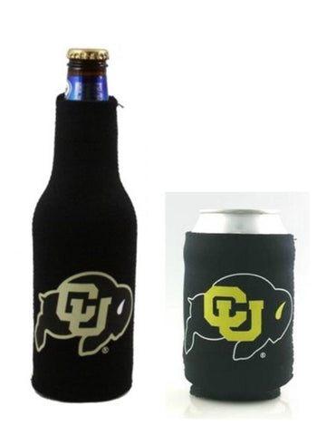 Colorado Buffaloes NCAA Bottle & Can Beer Soda Drink Holder-2 Pack