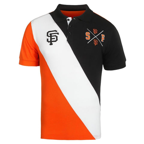 San Francisco Giants Official MLB Diagonal Stripe Polo