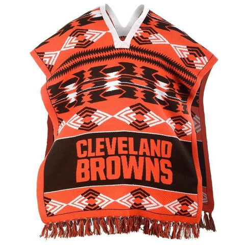 Cleveland Browns Official NFL Football Team Logo Unisex Poncho