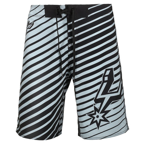 San Antonio Spurs Official NBA Poly Stripes Swimsuit Boardshorts