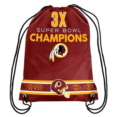 Washington Redskins NFL Super Bowl Commemorative Drawstring Backpack