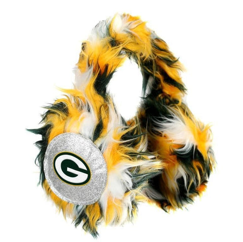 Green Bay Packers NFL Oversized Plush Warm Winter Earmuffs