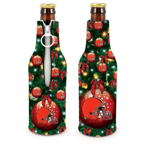 Cleveland Browns NFL Christmas Holiday Bottle Suit Coolers - 2Pack