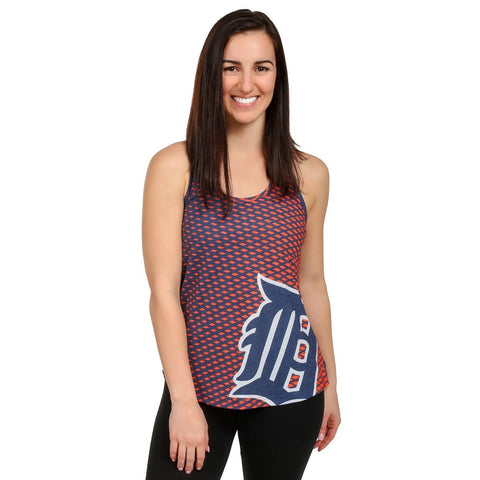 Detroit Tigers Official MLB Womens Raceback Tank Top Shirt