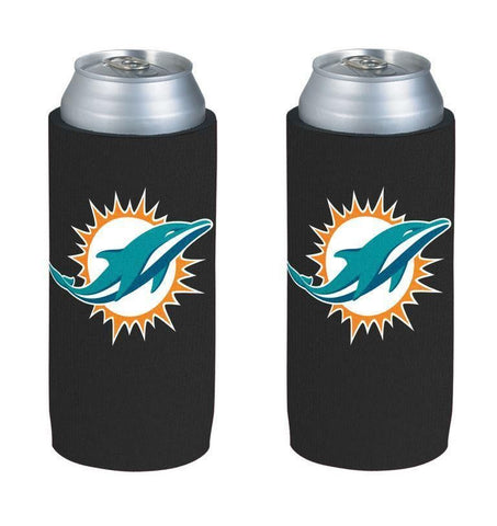 Miami Dolphins NFL  Ultra Slim Can Drink Beer Holder 2-Pack