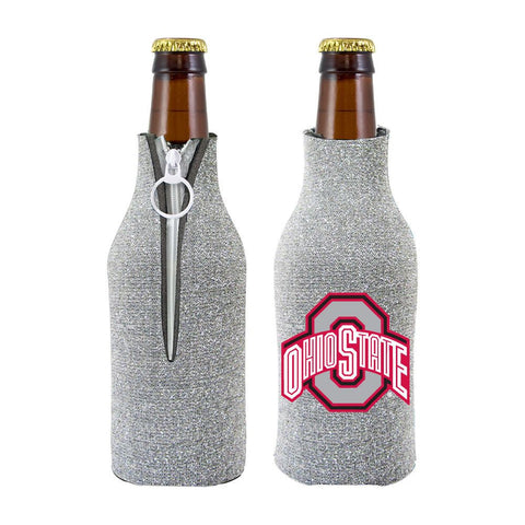 Ohio State Buckeyes NCAA Insulated Neoprene Ladies Glitter Bottle Cooler