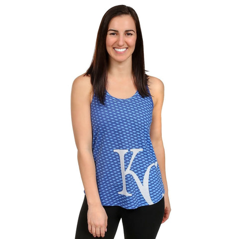 Kansas City Royals Official MLB Womens Raceback Tank Top Shirt
