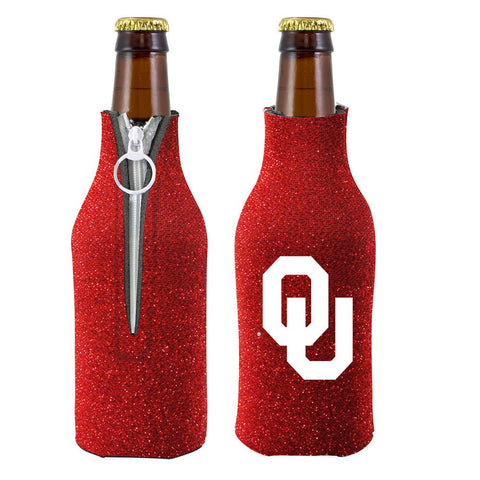 Oklahoma Sooners NCAA Insulated Neoprene Ladies Glitter Bottle Cooler