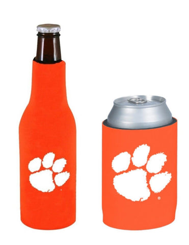 Clemson Tigers NCAA Bottle & Can Beer Soda Drink Holder-2 Pack