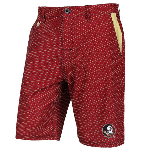 Florida State Seminoles Official NCAA Dots Walking Shorts with Pockets Button and Zipper