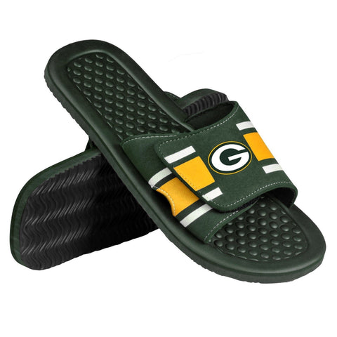 Green Bay Packers Official NFL Men's Shower Slide Flip Flops