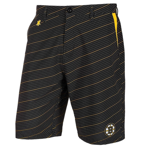 Boston Bruins Official NHL Dots Walking Shorts with Pockets Button and Zipper