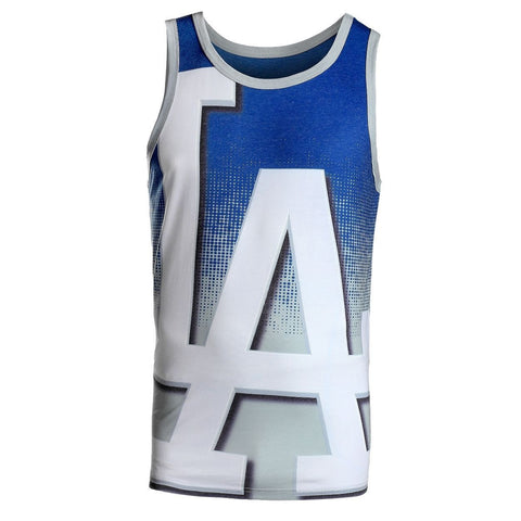 Los Angeles Dodgers Official MLB Big Logo Mens Tank Top