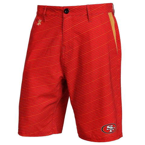 San Francisco 49ers Official NFL Dots Walking Shorts with Pockets Button and Zipper