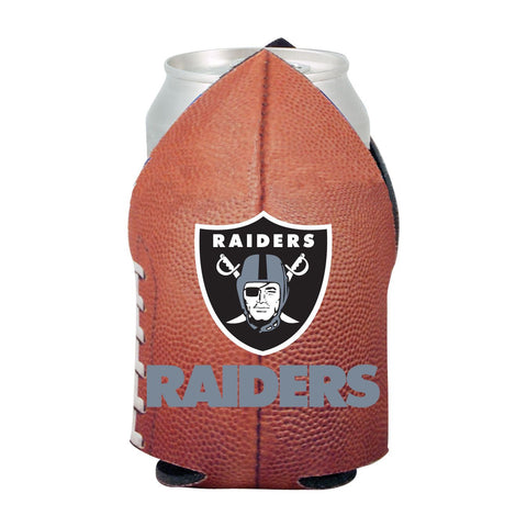 Oakland Raiders NFL Beer Can Pigskin Holder Neoprene Cooler