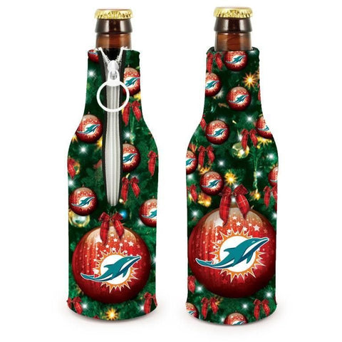 Miami Dolphins NFL Christmas Holiday Bottle Suit Coolers - 2Pack