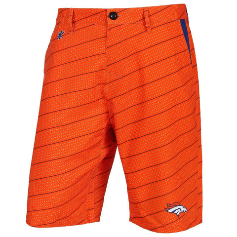 Denver Broncos Official NFL Dots Walking Shorts with Pockets Button and Zipper