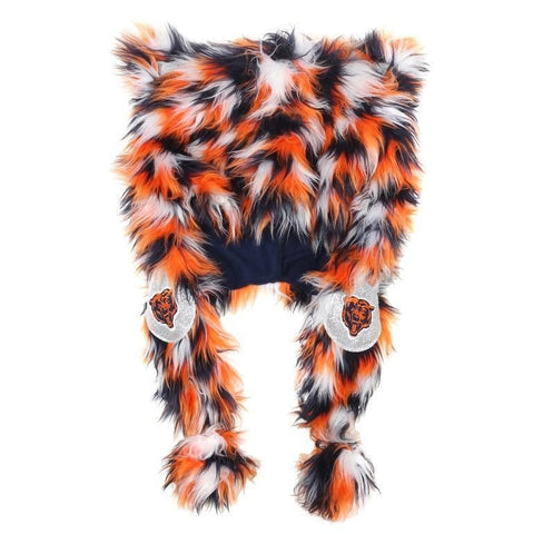 Chicago Bears NFL Logo Fluffy Plush Hat